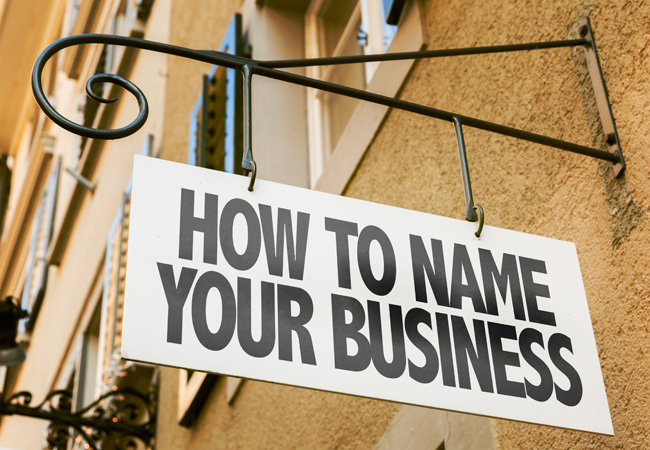 What's in a name? Choosing a name for your business.