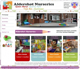 Aldershot Website Screenshot