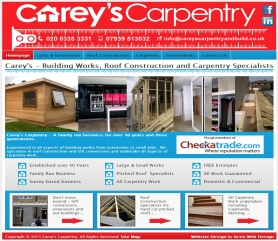 Carey's Carpentry Website Screenshot
