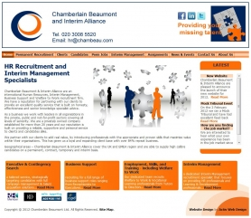 Chamberlain Beaumont Website Screenshot