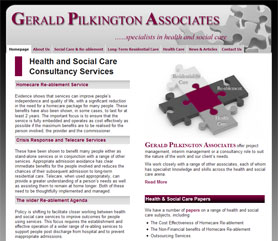 Gerald Pilkington Associates Website Screenshot