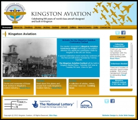 Kingston Aviation Website Screenshot