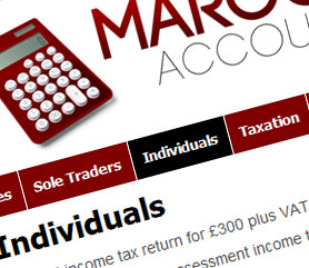 Maroon Accounts Website Screenshot