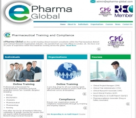 ePharma Website Screenshot