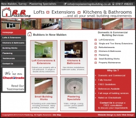RnR Plastering New Malden Web Design