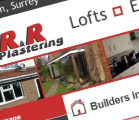 R & R Plastering Website Screenshot