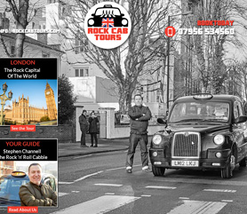 Kingson website for Rock Cab Tours