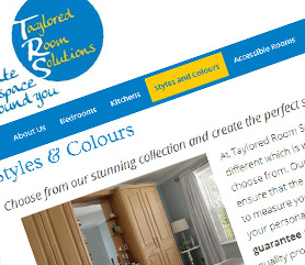 New Malden Web Design for Taylored Room Solutions