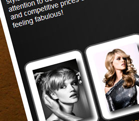 Thomas Swaine Hairdressing Website Screenshot