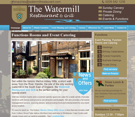 Watermill Restaurant Website Screenshot